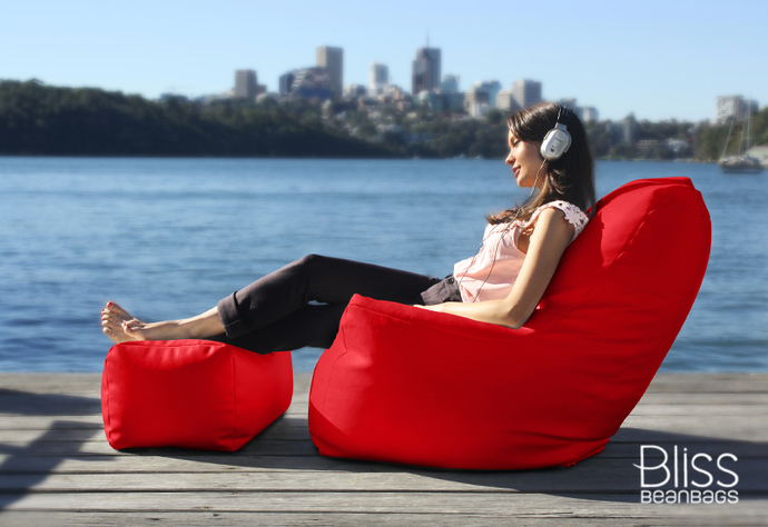 Red Arm Chair Bean Bag
